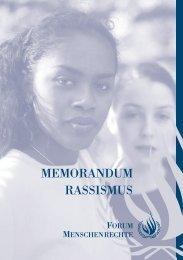 Memorandum Rassismus - Unesco
