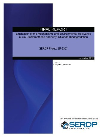 Elucidation of the Mechanisms and Environmental ... - CLU-IN