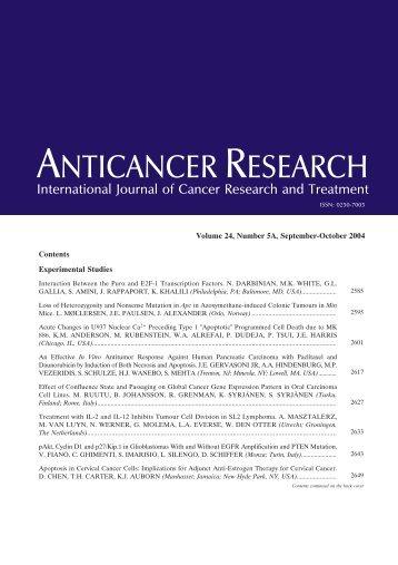 TOC (PDF) - Anticancer Research