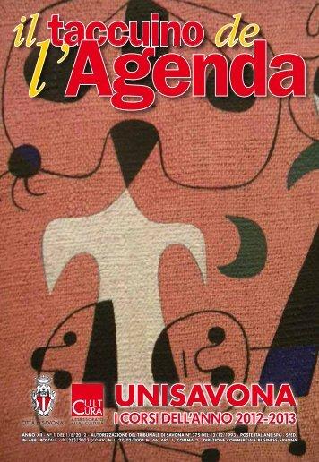 Taccuino Agenda Unisavona 2012 - Albenga Corsara
