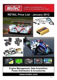 MoTeC Europe Price List.pdf - Ascania Racing