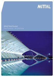 Mittal Steel Europe Flat Products - An Overview - Constructalia