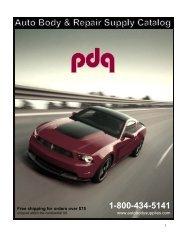 T Catalog - PDQ Auto Body Supplies