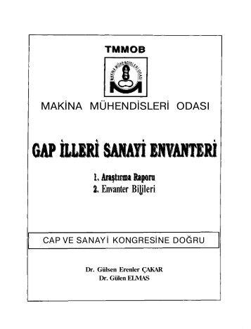 MAKİNA MÜHENDİSLERİ ODASI Envanter Bilileri - TMMOB Makina ...