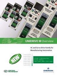 Unidrive M Overview Brochure - Emerson Industrial Automation