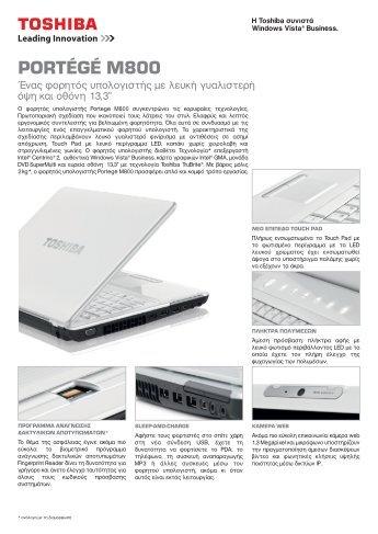 PORTÉGÉ M800 - Toshiba