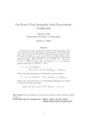 On Korn's First Inequality with Nonconstant Coefficients