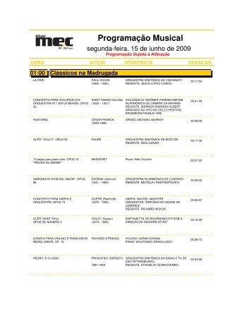 Programação Musical - Rádio MEC