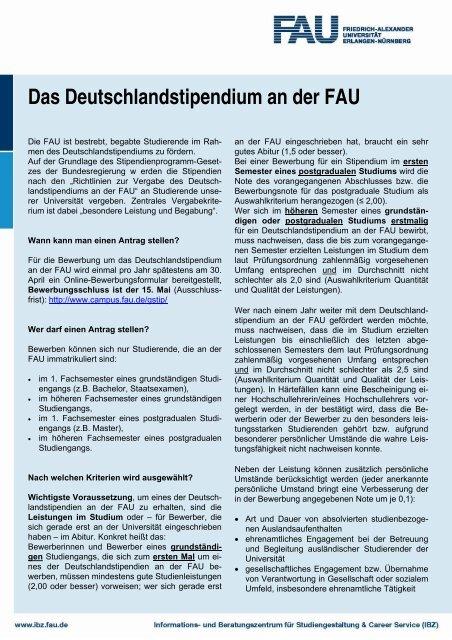 Faq Deutschlandstipendium Haben Sie Fragen 12