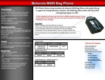 Motorola M800 Bag Phone