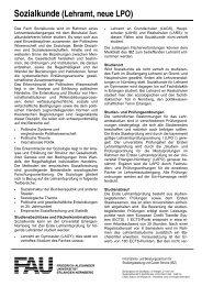 Sozialkunde (Lehramt, neue LPO) - Friedrich-Alexander-Universität ...