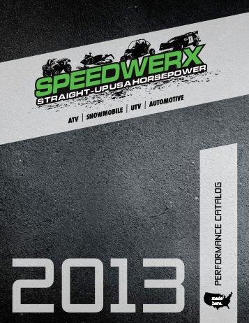 speedwerx 2013 catalog