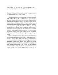 Review of H. Salvador Martínez, El Poema de Almería y la ... - IPFW