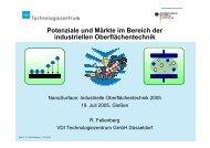 Potenziale und Märkte im Bereich der industriellen Oberflächentechnik