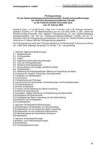 Prüfungsordnung für den Diplom-Studiengang Geowissenschaften ...