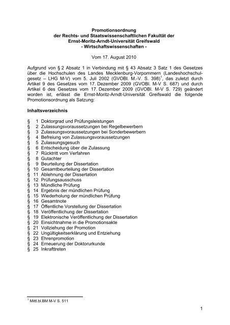 elektronische dissertation uni greifswald