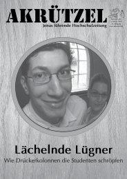 Lächelnde Lügner - Friedrich-Schiller-Universität Jena