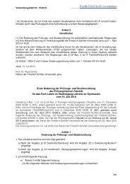 Erste Änderung der Prüfungs - Friedrich-Schiller-Universität Jena