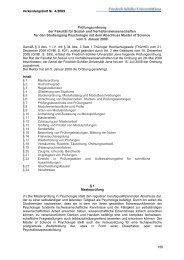 Prüfungsordnung der Fakultät für Sozial - Friedrich-Schiller ...