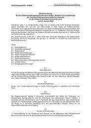 Studienordnung für den Diplom-Studiengang Geowissenschaften