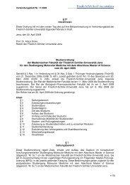 Studienordnung der Medizinischen Fakultät der Friedrich-Schiller ...