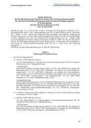 Zweite Änderung der Studienordnung der Fakultät für Sozial- und ...