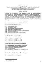 Greifswald Graduate School in Science - Ernst-Moritz-Arndt ...