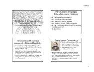 Einführung in die kaukasische Sprachwissenschaft The Caucasian ...