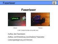 Faserlaser - Friedrich-Schiller-Universität Jena