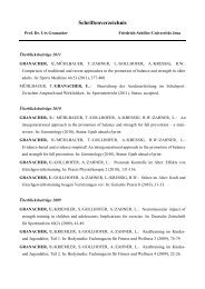 Schriftenverzeichnis - Friedrich-Schiller-Universität Jena