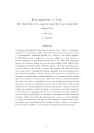 From æghwæDer to either: The distribution of a negative polarity ...