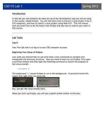CSE115 Lab 1 Spring 2012