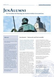 JenAlumni_Newsletter_01_2010 - Friedrich-Schiller-Universität Jena