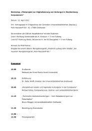 Workshop ?Pilotprojekt zur Digitalisierung von Kulturgut in ...