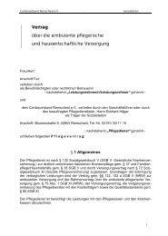 Pflegevertrag - Caritasverband Remscheid