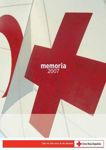 Memoria 2007 - Cruz Roja