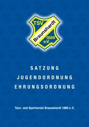 Vereinssatzung - TSV Braunshardt