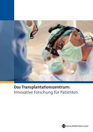 Das Transplantationszentrum: Innovative Forschung für Patienten.