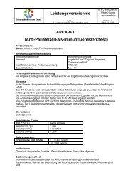 Leistungsverzeichnis APCA-IFT - Universitätsklinikum Essen
