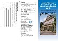 Innovationen in der Onkologie und Dermato-Onkologie 2012