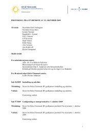 Styreprotokoll fra møte av 22.10.09 - Helse Finnmark