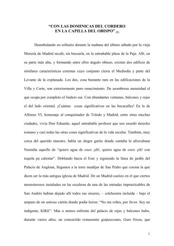 """""""CO LAS DOMI ICAS DEL CORDERO E LA CAPILLA ... - Gratuidad"""