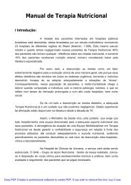 Manual de Terapia Nutricional - Hospital de Clínicas - UNICAMP