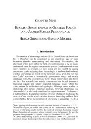 chapter nine english shortenings in german police and armed forces