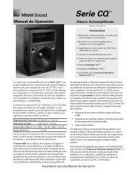 Manual de Operación - Meyer Sound Laboratories Inc.