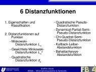 Quadratische Distanzfunktion