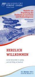 Flyer Orientierungstage WS 2011-12.pdf - Campus Landau