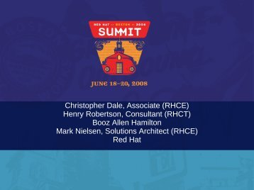 Christopher Dale, Associate (RHCE) Henry Robertson ... - Red Hat
