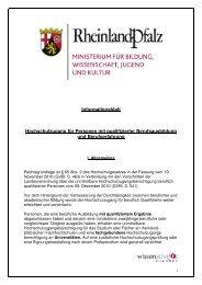 Informationsblatt qualifizierte Berufsausbildung und Berufserfahrung