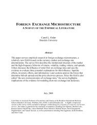 FOREIGN EXCHANGE MICROSTRUCTURE